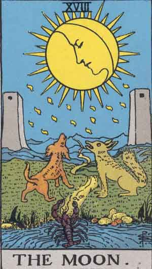 タロット・月|カードの意味と解説