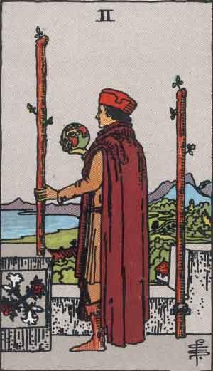タロット・ワンド2|カードの意味と解説