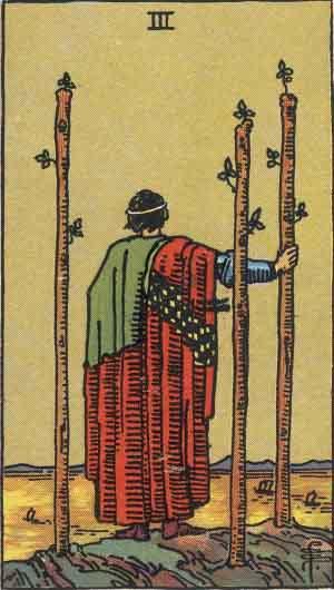 タロット・ワンド3|カードの意味と解説