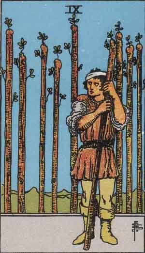 タロット・ワンド9|カードの意味と解説