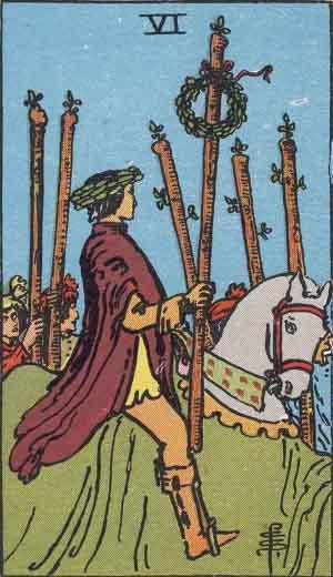 タロット・ワンド6|カードの意味と解説
