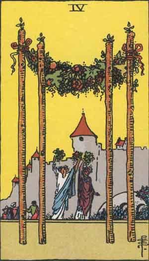 タロット・ワンド4|カードの意味と解説