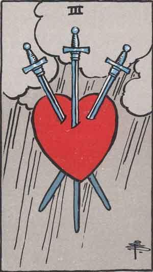 タロット・ソード3|カードの意味と解説