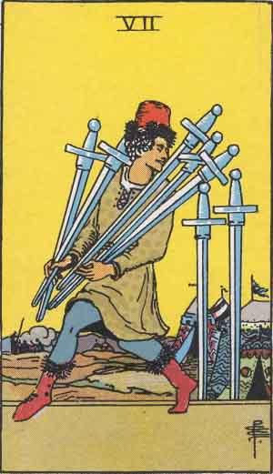 タロット・ソード7|カードの意味と解説
