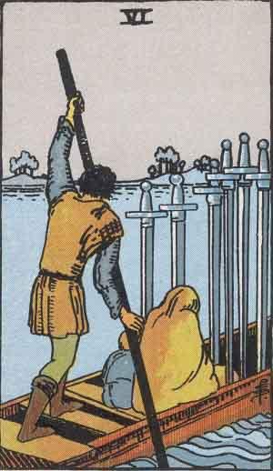 タロット・ソード6|カードの意味と解説