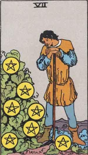 タロット・ペンタクル7|カードの意味と解説