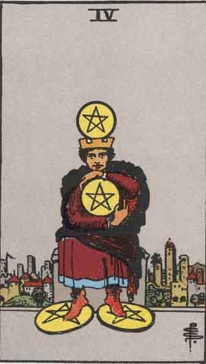 タロット・ペンタクル4|カードの意味と解説