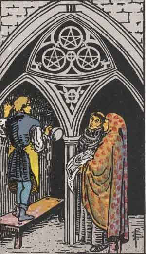 タロット・ペンタクル3|カードの意味と解説